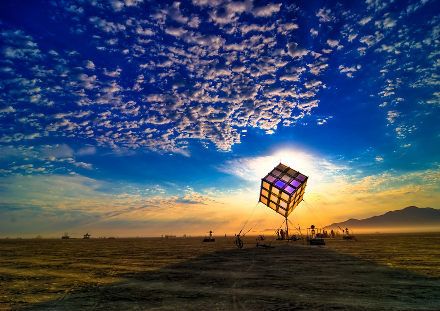 Groovik's Cube at Sunrise